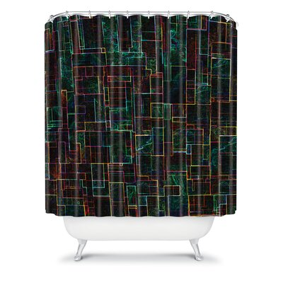 DENY Designs Jacqueline Maldonado Woven Polyester Matrix Shower Curtain