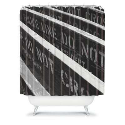 DENY Designs Leonidas Oxby Woven polyester 7 Chances Do Ya Feel Lucky Shower Curtain