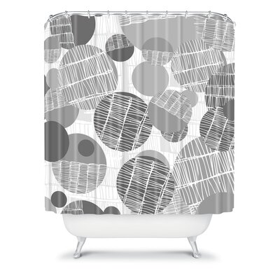 DENY Designs Rachael Taylor Polyester Textured Geo Shower Curtain