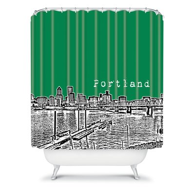 DENY Designs Bird Ave Woven Polyester Portland Shower Curtain