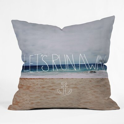 DENY Designs Leah Flores Lets Run Away III Throw Pillow