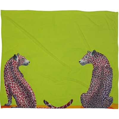 DENY Designs Clara Nilles Leopard Lovers Polyester Fleece Throw Blanket