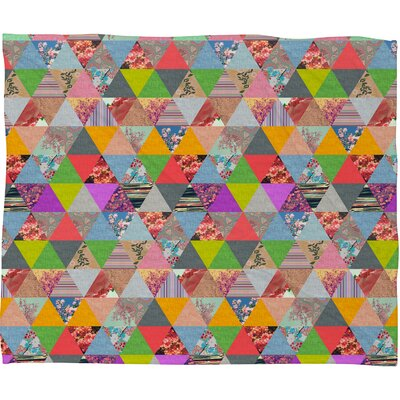 DENY Designs Bianca Green Lost in Pyramid Polyester Fleece Throw Blanket