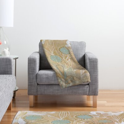 DENY Designs Cori Dantini Blue Floral  Polyester Fleece Throw Blanket