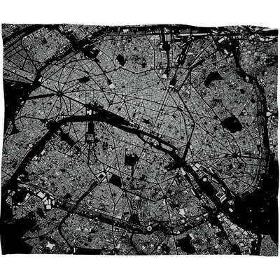 DENY Designs CityFabric Inc Paris Polyester Fleece Throw Blanket