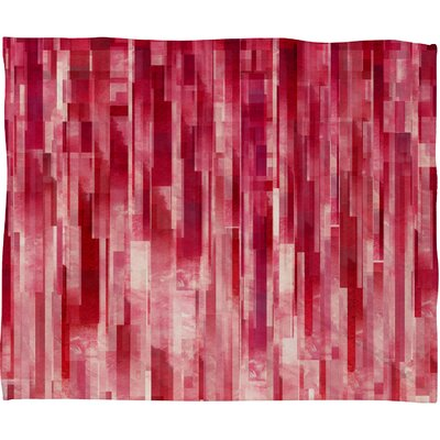 DENY Designs Jacqueline Maldonado Red Rain Polyester Fleece Throw Blanket