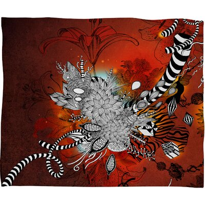 DENY Designs Iveta Abolina Wild Lilly Polyester Fleece Throw Blanket