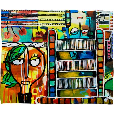 DENY Designs Robin Faye Gates Musical Chairs Polyester Fleece Throw Blanket