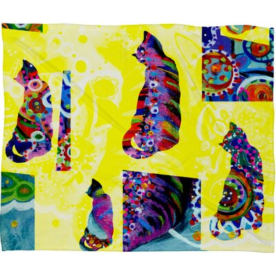 Randi Antonsen Cats 1 Polyester Fleece Throw Blanket