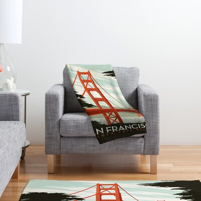DENY Designs Anderson Design Group San Francisco Polyester Fleece  Throw Blanket