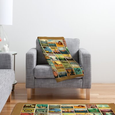 DENY Designs Anderson Design Group City Pattern Border Polyester Fleece  Throw Blanket