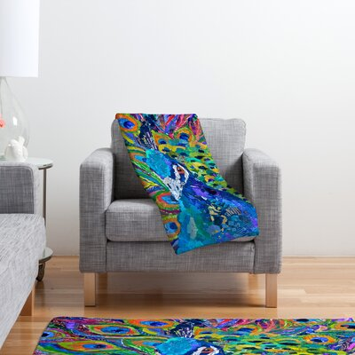 DENY Designs Elizabeth St Hilaire Nelson Cacophony of Color Polyester Fleece Throw Blanket