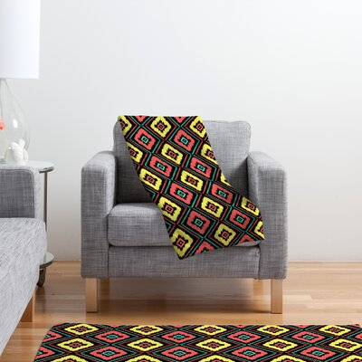 DENY Designs Jacqueline Maldonado Zig Zag Ikat Polyester Fleece Throw Blanket