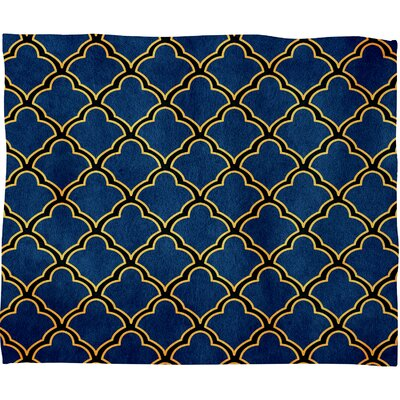 Arcturus Quatrefoil Polyester Fleece Throw Blanket