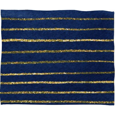 DENY Designs Social Proper Nautical Sparkle Polyester Fleece Throw Blanket