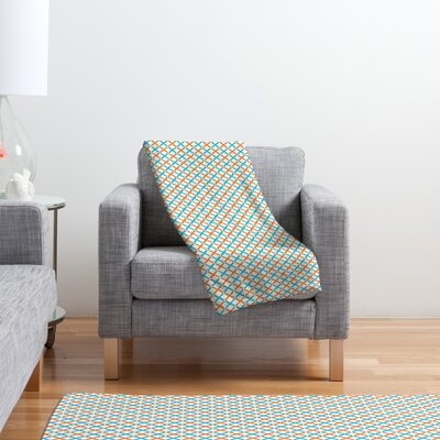 DENY Designs Tammie Bennett X Check Polyester Fleece Throw Blanket