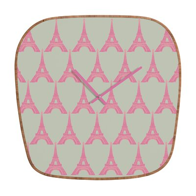 DENY Designs Bianca Green Oui Oui Clock