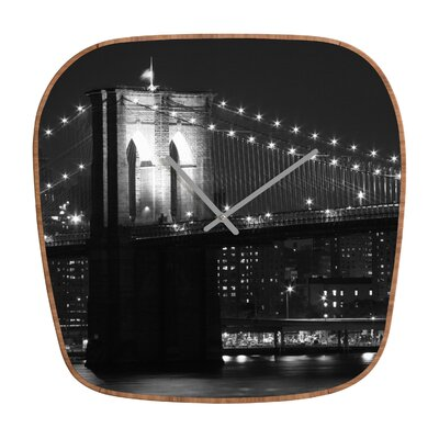 DENY Designs Leonidas Oxby Brooklyn Bridge 125 Clock