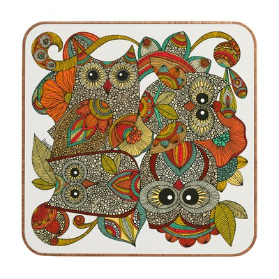 DENY Designs Valentina Ramos 4 Owls Wall Art