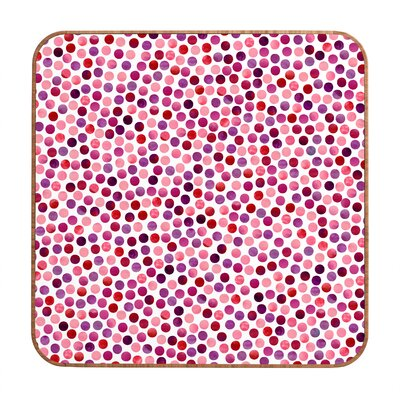 DENY Designs Garima Dhawan Watercolor Dots Berry Wall Art