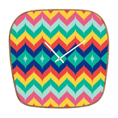DENY Designs Juliana Curi Chevron 5 Clock