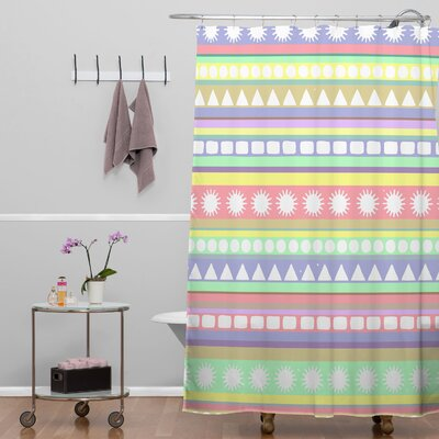 DENY Designs Romi Vega Polyester Pastel Pattern Shower Curtain
