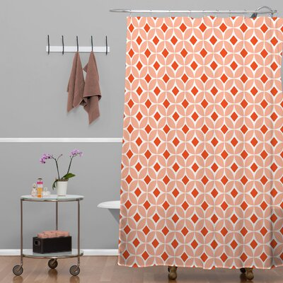 DENY Designs Caroline Okun Persimmon Polyester Shower Curtain