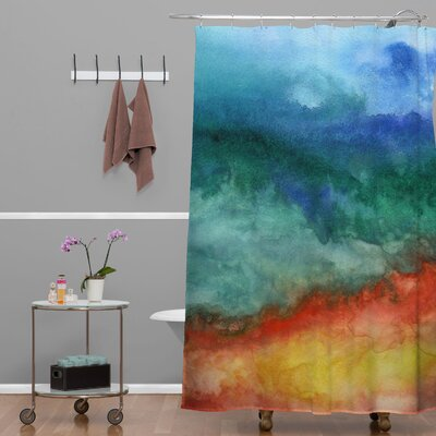DENY Designs Jacqueline Maldonado Woven Polyester Leaving California Shower Curtain