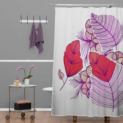 DENY Designs Gabi Sea Leaves Polyester Shower Curtain