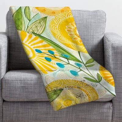 DENY Designs Cori Dantini Sun Burst Flowers Polyester Fleece Throw Blanket