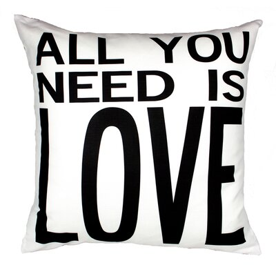 Uptown Artworks All You Need Pillow