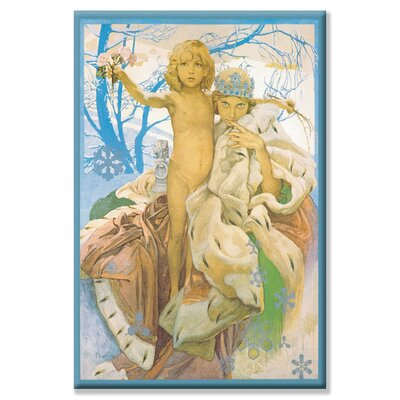 Snow Queen and Child Canvas Wall Art