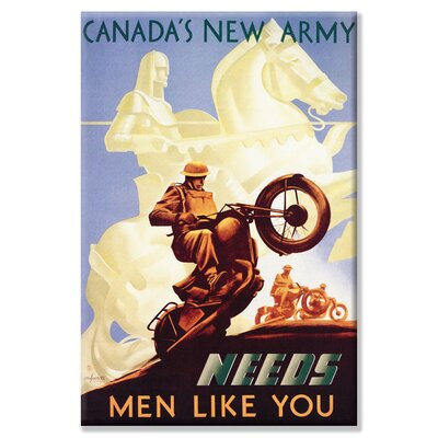 Canada's New Army: Men Like You Canvas Wall Art
