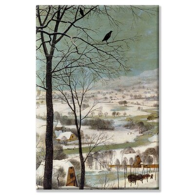 Buyenlarge Hunters in the Snow Canvas Wall Art