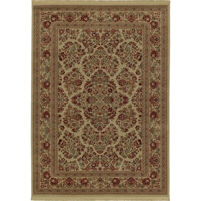 kathy ireland Rugs by Shaw Living Essentials Imperial Bouquet Natural Rug