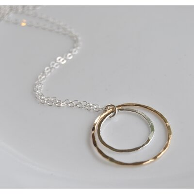 AEB Designs 14kt Gold Fill Sterling Silver Double Ring Necklace
