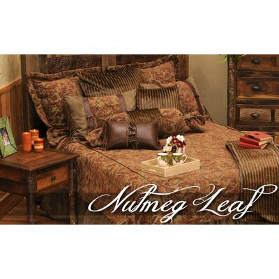 Wooded River Nutmeg Leaf 4 Piece Bedding Set