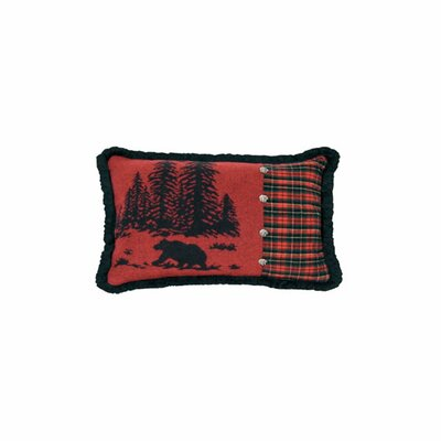 Wooded River Wooded River Bear Plaid Pillow