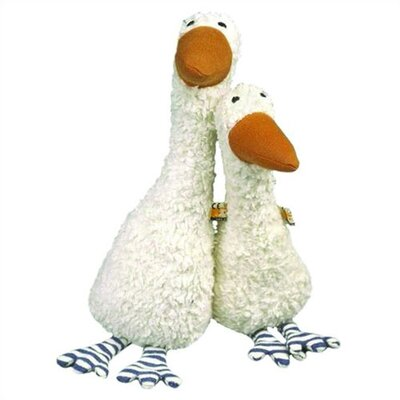 Challenge & Fun Lana Goose Organic Stuffed Animal in White