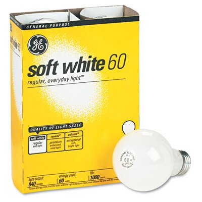 GE 60 Watts Incandescent Globe Bulbs
