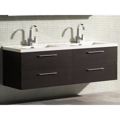 "James Martin Furniture Starfall 67.5"" Double Bathroom Vanity Set"