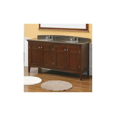 "James Martin Furniture Vivian 60"" Double Bathroom Vanity Set"