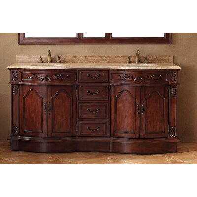 "James Martin Furniture 72"" Double Bathroom Vanity Set"
