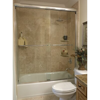 "Coastal Industries 3/8"" Frameless Paragon Bypass Shower Enclosure"