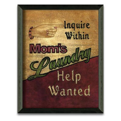 Timeless Frames Laundry Help Wanted Art Print Wall Art