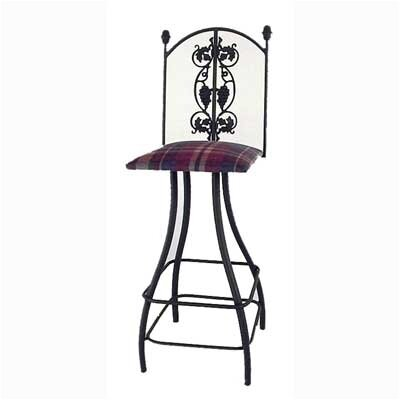 "Grace Collection Grapes 30"" Swivel Stool"