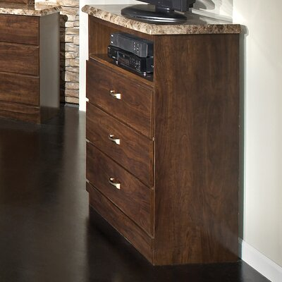 Zinfandel 3 Drawer Media Chest