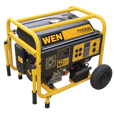 WEN 7,000 Watt Portable Generator with Wheel Kit