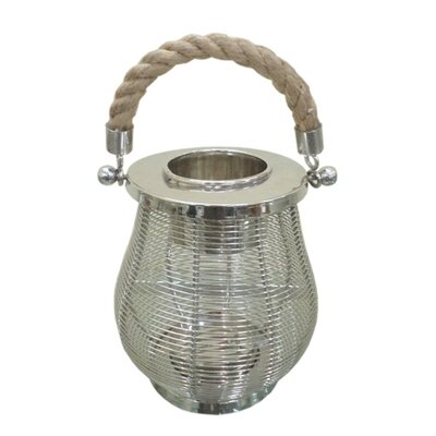 Rojo 16 Stainless Steel and Glass Wire Lantern