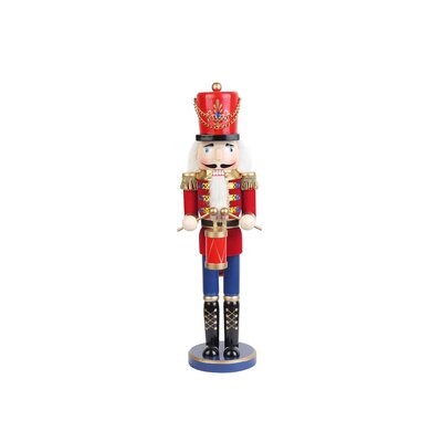 Red Nutcracker Drummer Soldier
